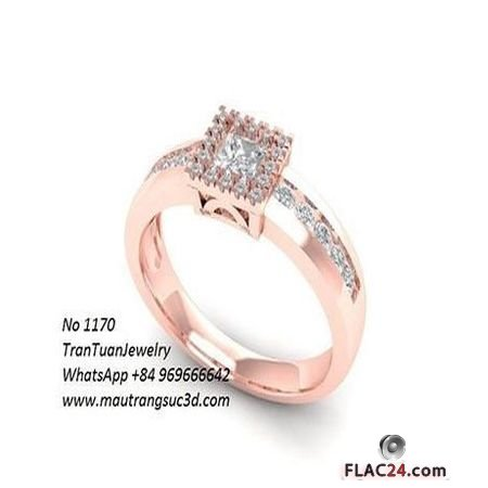 1170 DIAMOND RING 3D PRINT MODEL
