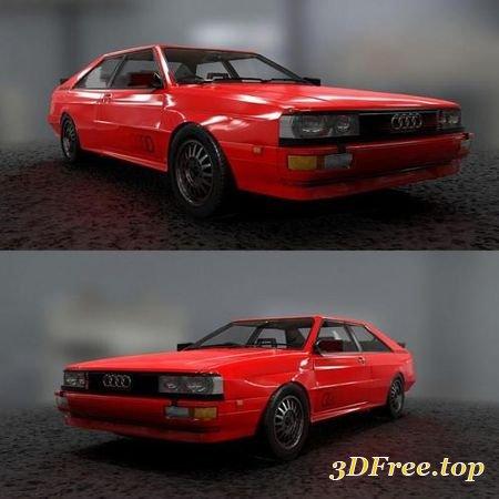 AUDI QUATTRO 1986 (3D Max)