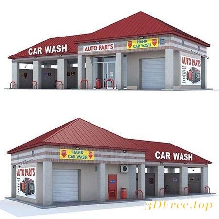 CAR WASH 3D MODEL (3D Max)