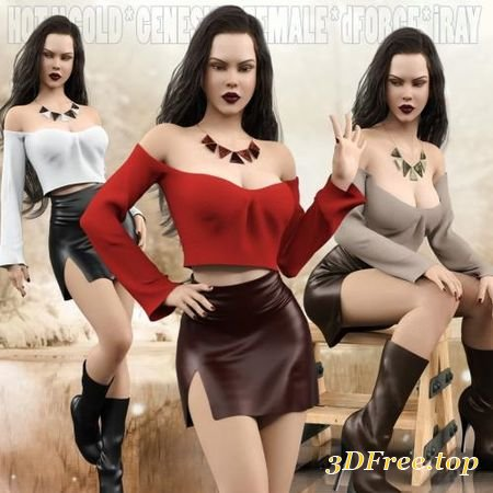 HOT N COLD CLOTHING SET FOR GENESIS 8 FEMALES FOR IRAY AND DFORCE (Poser)