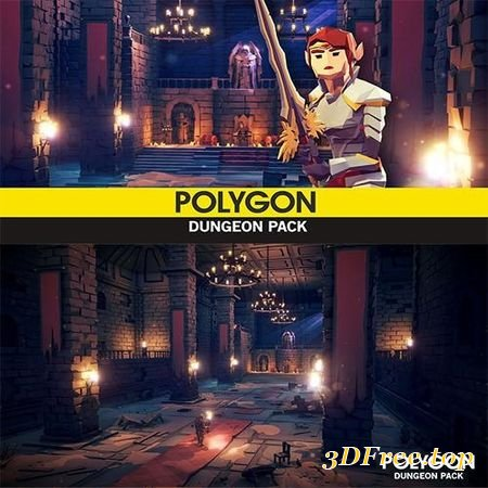 POLYGON - DUNGEON PACK LOW-POLY 3D MODEL
