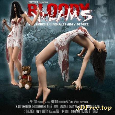BLOODY DREAMS FOR GENESIS 8 FEMALES (Poser)