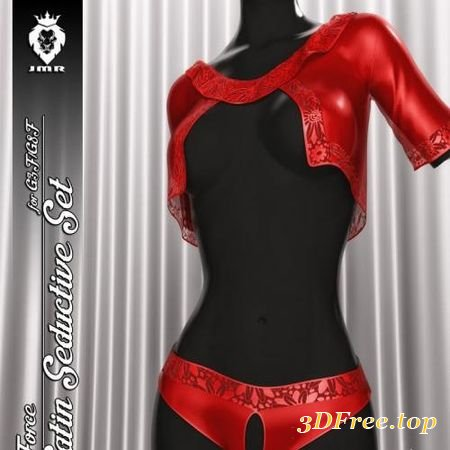 JMR DFORCE SATIN SEDUCTIVE SET FOR G3F AND GENESIS 8 FEMALE (Poser)
