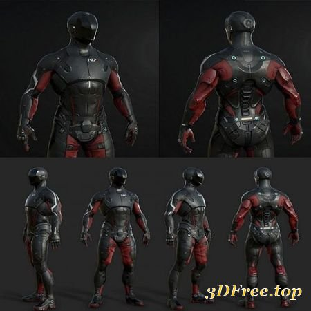 MASS EFFECT – PATHFINDER SUIT (3DMax)