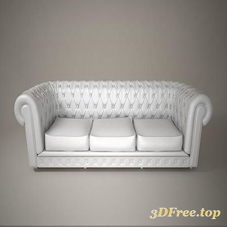 05 LEATHER SOFA 3D MODEL (3DMax)