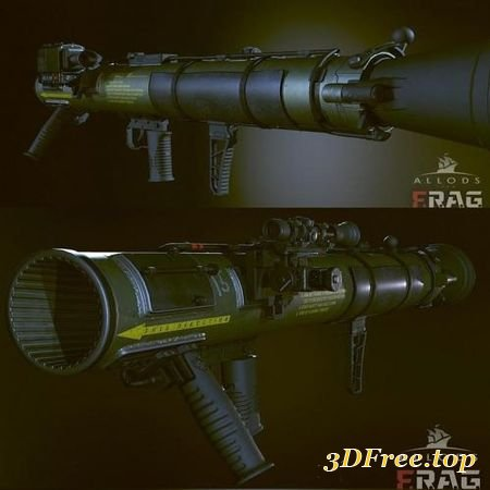 CARL GUSTAV M4 ROCKET LAUNCHER (3DMax)