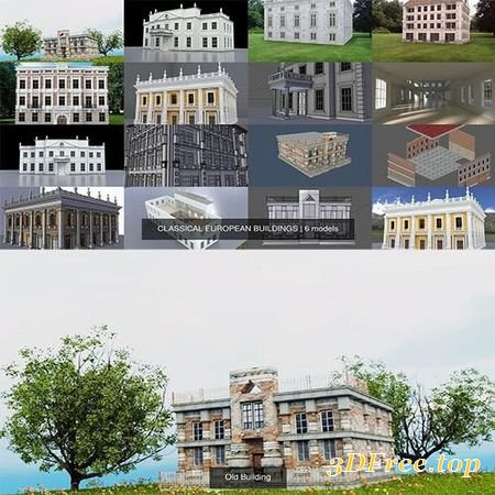CLASSICAL EUROPEAN BUILDINGS 3D MODEL COLLECTION