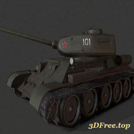 T-34 SOVIET TANK (3DMax)