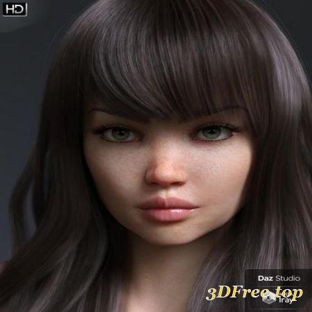 3D Models DANAE HD FOR GENESIS 8 FEMALE (Poser) download free