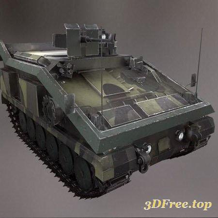 ALVIS STORMER LIGHT APC TANK – 3D MODEL (3DMax)