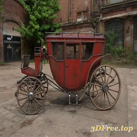 CARRIAGE – 3D MODEL (3DMax)