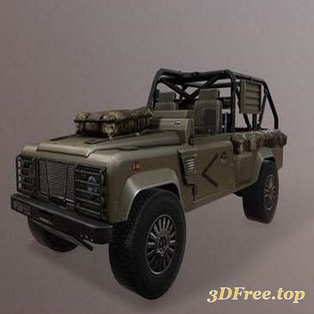 "LAND ROVER ""WOLF EDITION"" – LOW POLY 3D MODEL (3Dmax)"
