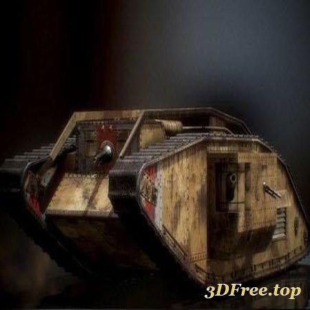MARK V LANDSHIP TANK – 3D MODEL (3Dmax)