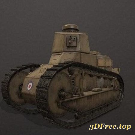 RENAULT FT-17 WW1 TANK – 3D MODEL (3Dmax)