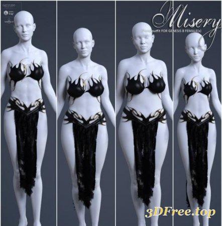 DFORCE MISERY FOR GENESIS 8 FEMALES (Poser)