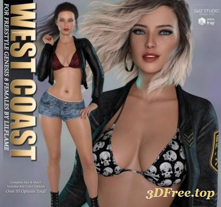 WEST COAST FOR FREESTYLE GENESIS 8 FEMALE (Poser)