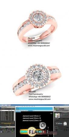 1168 DIAMOND RING 3D PRINT MODEL