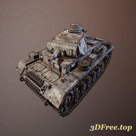 PANZER III TANK – 3D MODEL (3Dmax)