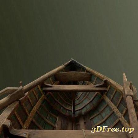 WOODEN ROWBOAT – 3D MODEL (3Dmax)