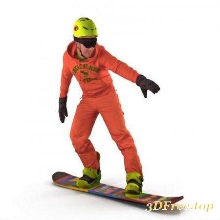 SNOWBOARDER – SCANNED 3D MODEL (3DMax)