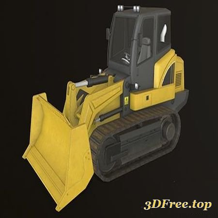 BULLDOZER LOW-POLY 3D MODEL (3DMax)