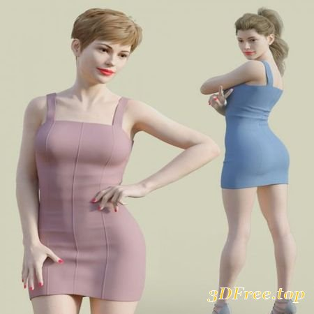 H&C CLUB DRESS D FOR GENESIS 3 & 8 FEMALE (Poser)