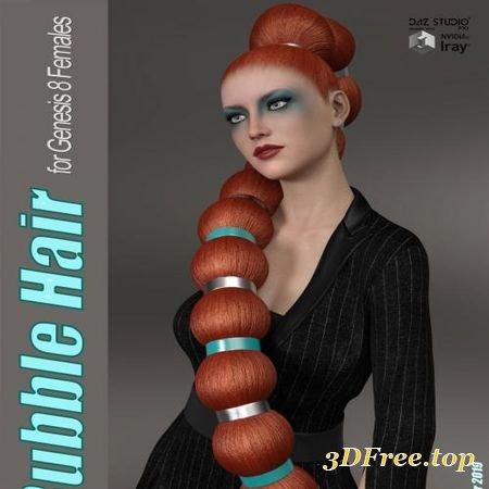 BUBBLE HAIR FOR GENESIS 8 FEMALE (Poser)