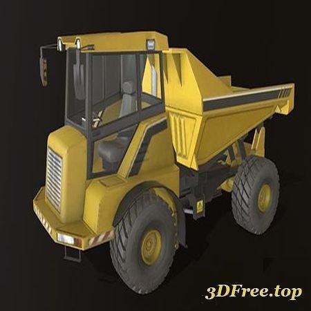 DUMP TRUCK LOW-POLY 3D MODEL (3DMax)