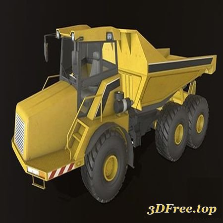 DUMP TRUCK LARGE LOW-POLY 3D MODEL (3DMax)