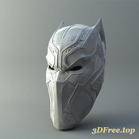 BLACK PANTHER MASK FROM CIVIL WAR 3D PRINT MODEL