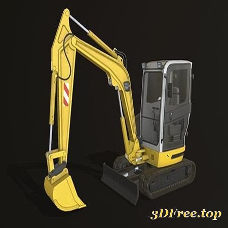 MINI EXCAVATOR 2 LOW-POLY 3D MODEL (3DMax)