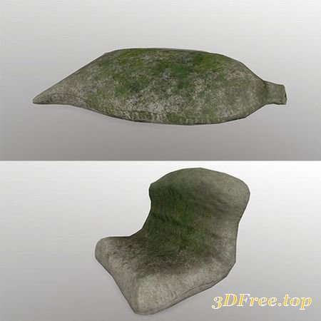 SANDBAG LOW-POLY 3D MODEL