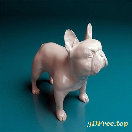 FRENCH BULLDOG 3D PRINT MODEL (3Dmax)