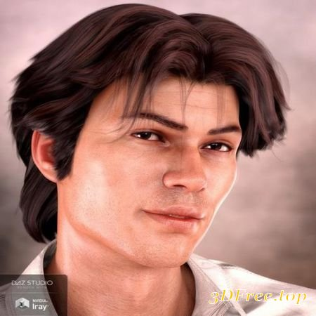 LANDIS HAIR FOR GENESIS 8 AND GENESIS 3 MALE(S) (Poser)