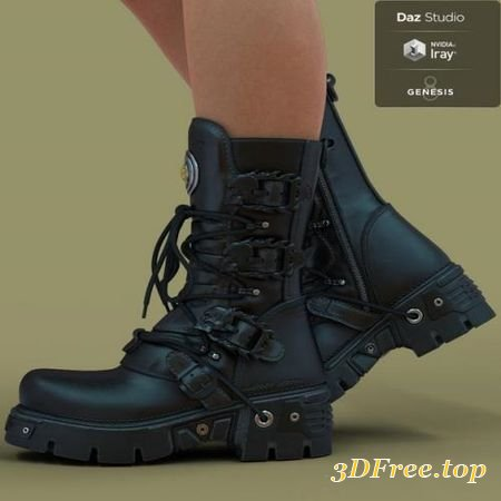 3D Models SW BOOTS FOR GENESIS 8 (Poser) download free