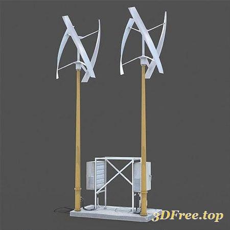 WIND GENERATOR 3D MODEL (3DMax)