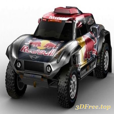MINI BUGGY X-RAID DAKAR RALLY 2018 (3DMax)