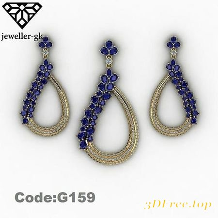 EARRING AND MEDAL 3D MODEL