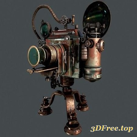 STEAMPUNK PHOTO CAMERA – 3D MODEL (3DMax)