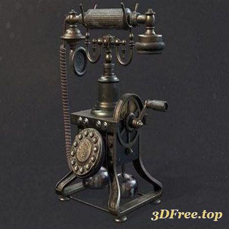VINTAGE TELEPHONE – 3D MODEL (3DMax)