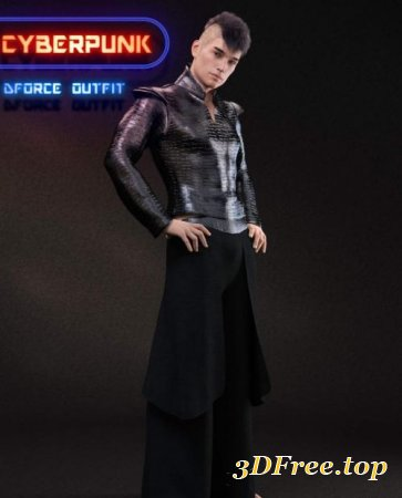 DFORCE CYBERPUNK OUTFIT FOR GENESIS 8 MALE (Poser)