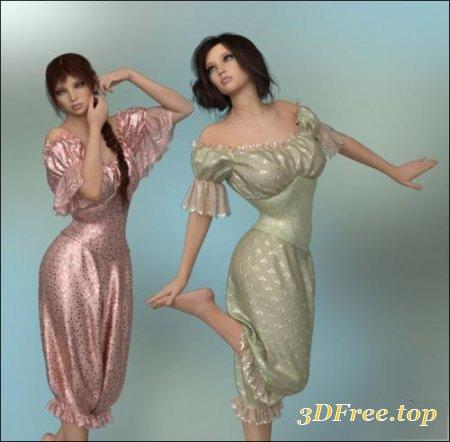DFORCE - VICTORIAN MISTRESS FOR GENESIS 8 FEMALE (Poser)