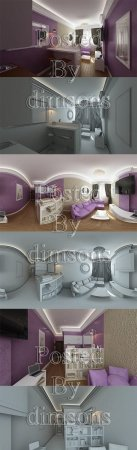 PINK LIVING ROOM INTERIOR 3D MODEL (3DMax)