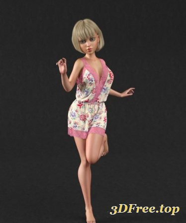 DFORCE RETRO ROMPER FOR GENESIS 8 FEMALE(S) (Poser)