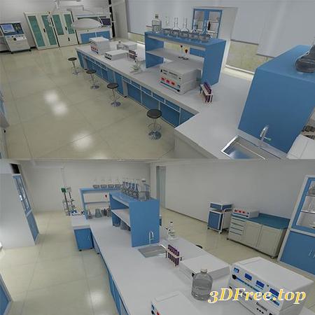 LABORATORY 3D MODEL (3DMax)