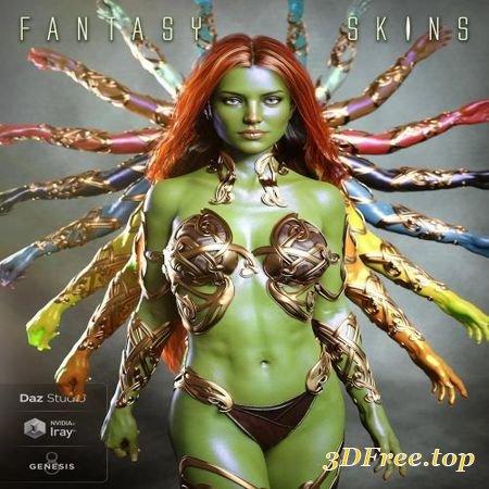 3D Models FANTASY SKINS FOR GENESIS 8 (Poser) download free