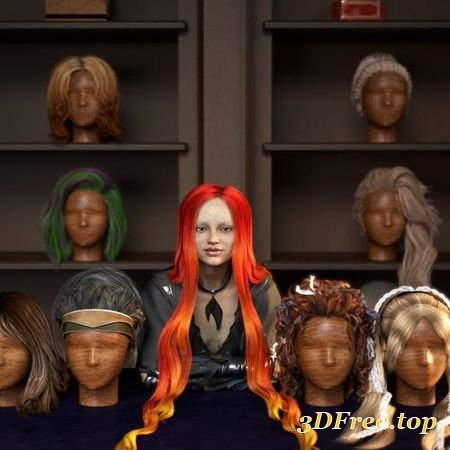 RSSY HAIR CONVERTER FROM G2F TO GENESIS 8 FEMALE (Poser)
