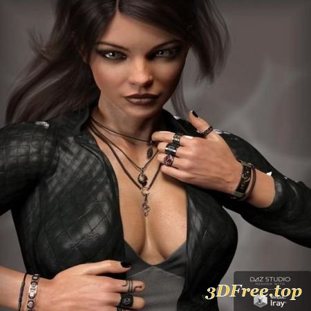 MD ROCK JEWELRY FOR GENESIS 3 AND 8 FEMALE(S) (Poser)