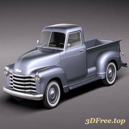 CHEVROLET PICKUP 1950 CLASSIC (3DMax)