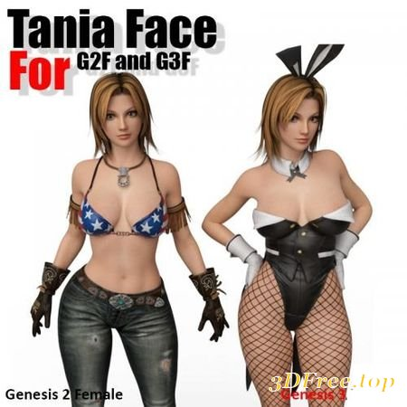 TANIA FACE FOR GENESIS 2 FEMALE AND G3F (Poser)
